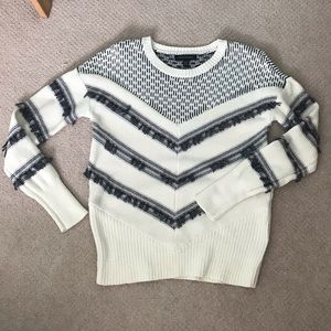 Banana republic fall sweater with fringe detail